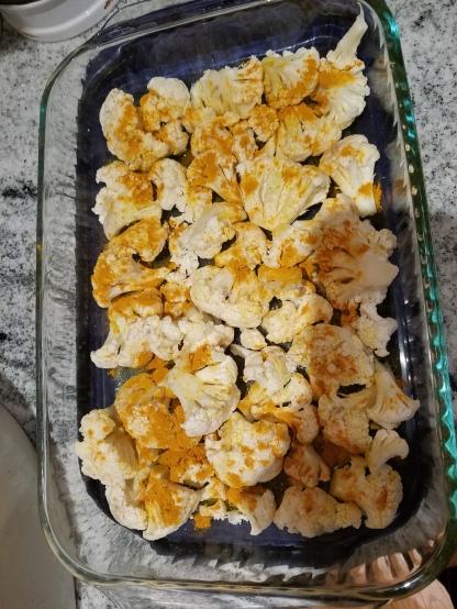 Tumeric Cauliflower - Unroasted