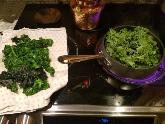 Blanching Kale